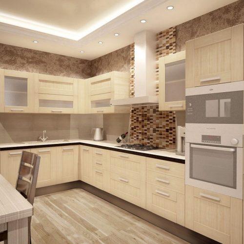 Дизайн кухни 12 кв. м. Фото 2