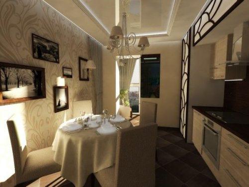 Дизайн кухни 12 кв. м. Фото 3