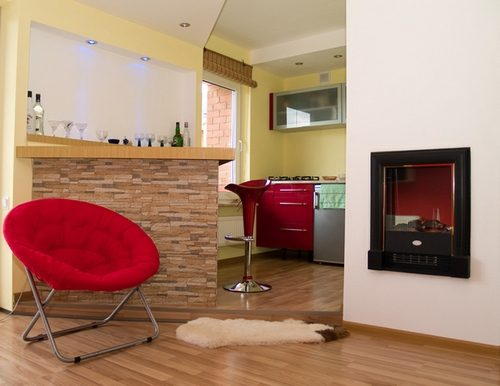Фото дизайна кухни совмещенной с гостиной