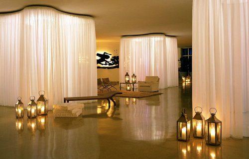 романтичный интерьер в гостинице