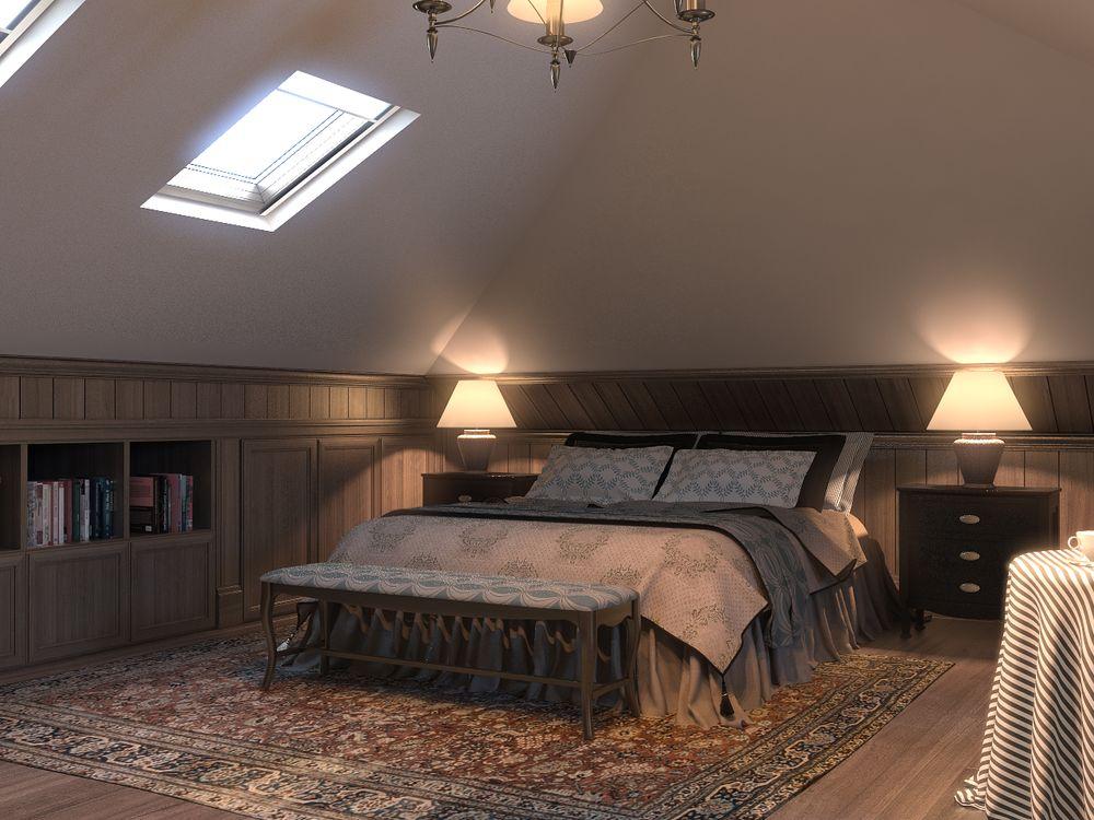 Стиль натюрель в спальне