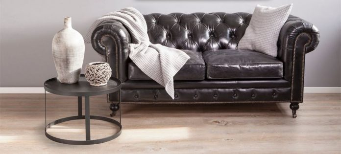 Кожаные прямые диваны