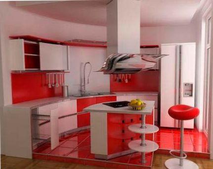 Дизайн кухни с использованием красного цвета