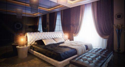 Гармоничный интерьер спальни