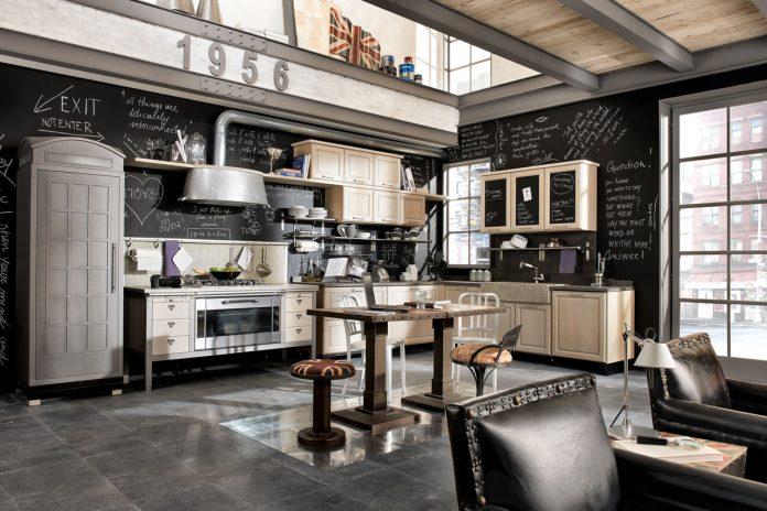 Стиль винтаж в современном интерьере кухни