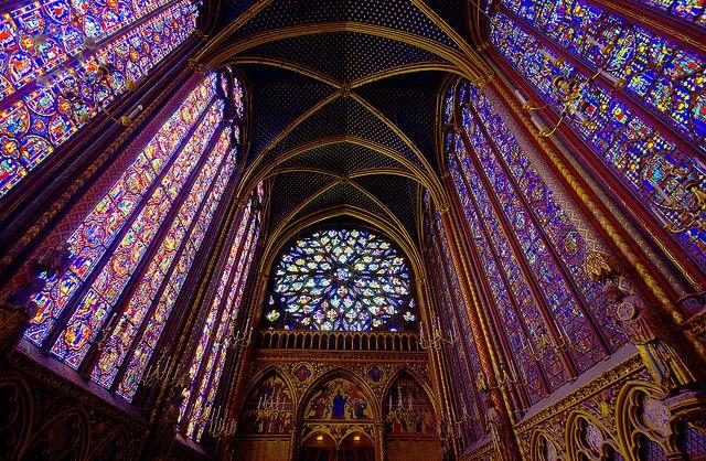 капелла Сен-Шапель в Париже