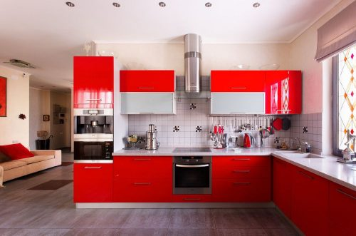 Современный стиль интерьера кухни