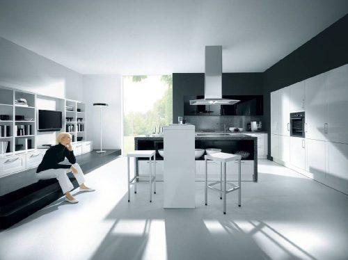 Стиль минимализма в интерьере кухни
