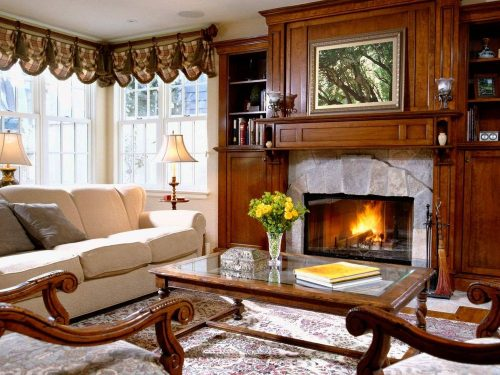 Зимний интерьер дома - тепло и уют
