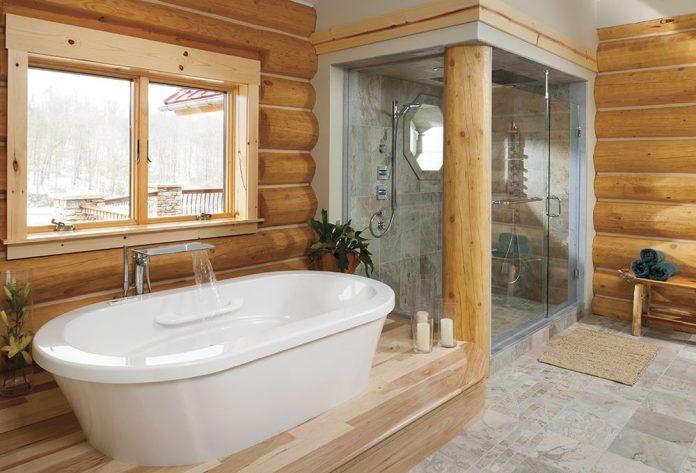 Дизайн ванной комнаты в деревенском стиле