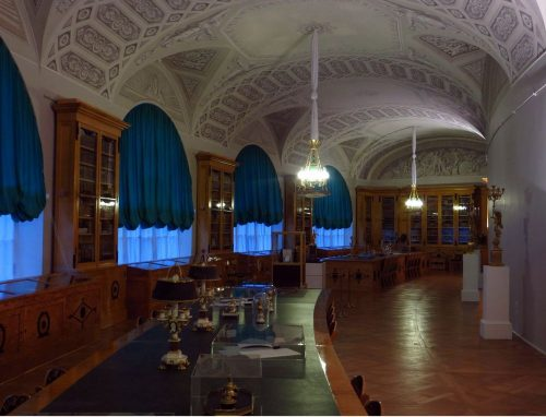 росписи дворцовой библиотеки в Павловске