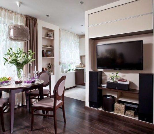 Дизайн интерьера квартиры студии