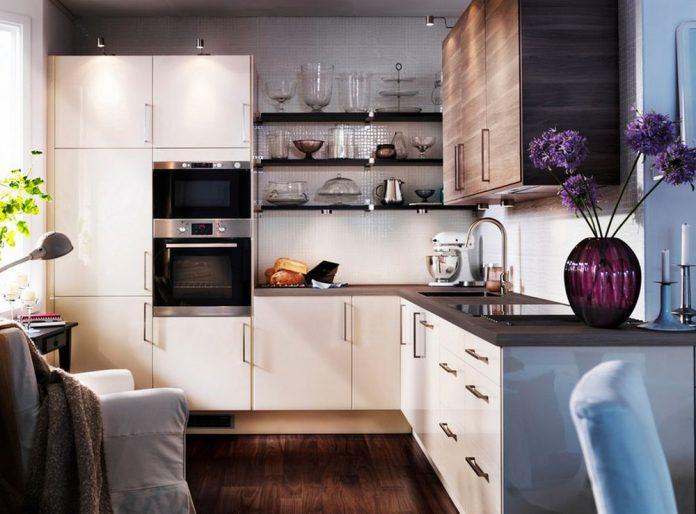 Красивый интерьер маленькой кухни фото