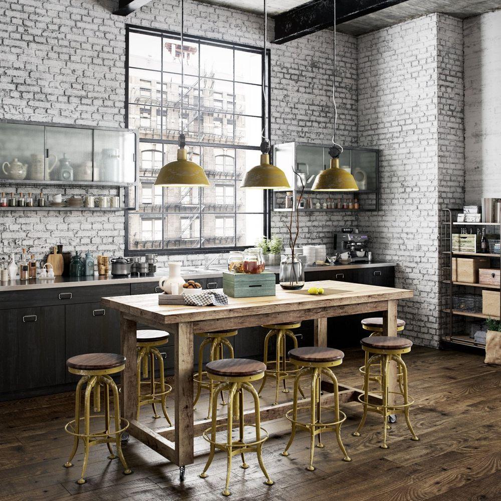 Стиль лофт в интерьере кухни