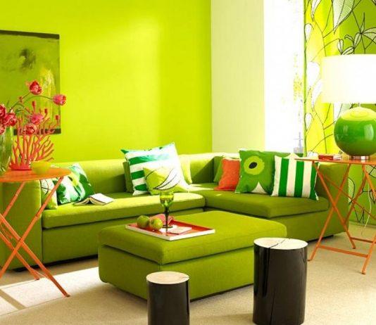Зеленый цвет в интерьере дома